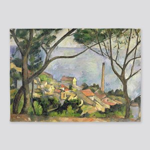 The Sea at lEstaque by Paul Cezanne 5'x7'Area Rug